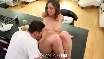 Klara reveals her wonderful oral skills and gets her peach worked out