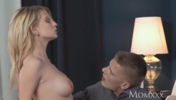 Slender brunette gets her firm ass oiled up and pussy penetrated