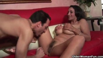 Wonderful Paulina James has two guys sharing her pussy and her mouth