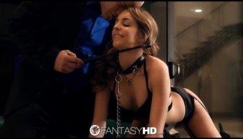 Chocolate beauty Stephanie gets banged by her white boyfriend Antonio