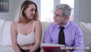 Two hot guys and a curious girl get into a sensual bisexual threeway