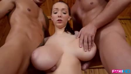 Adorable Bretta gets her hairy pussy fucked by a masseur