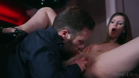 Brown stop heart gal Katie Jordin gets banged by a bald man