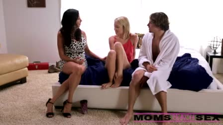 Brunette with olive hoe shakes her ass and fuck on a table