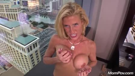 Ivy Rose uses her giant tits and pussy at the mercy of a cock